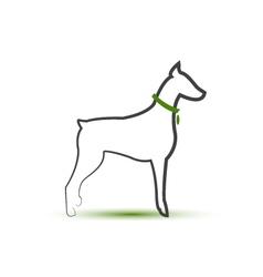 Dog silhouette stylized logo vector image