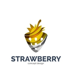 Creative abstract strawberry fruit logo vector