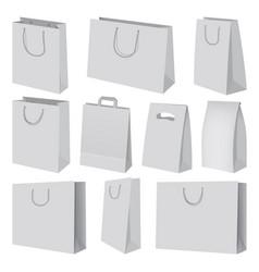 paper bag mockup set realistic style vector image