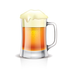 Object beer mug vector