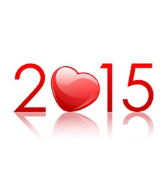 2015 New Year background with heart vector image vector image