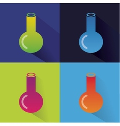 Abstract chemistry icons isolated on colored vector