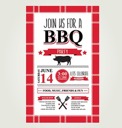 Barbecue party invitation bbq brochure menu design vector