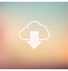 Cloud download in flat style icon vector