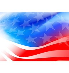 Abstract american flag on a white background vector