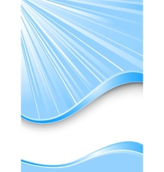 Ray background - blue color vector