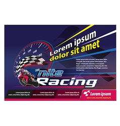 Poster racing event vector