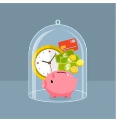 Concept for saving time and money vector image
