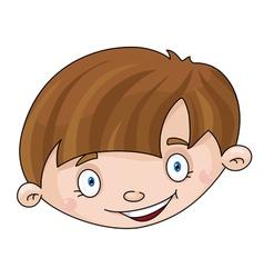 Head of the boy vector