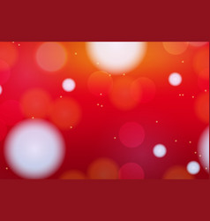 Background template with red and blur circles vector