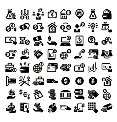 big finance icons set vector image vector image