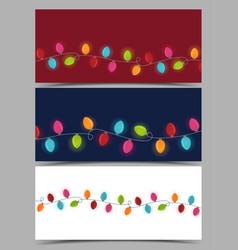 christmas colorful lights vector image