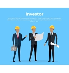 Construction investor banner vector