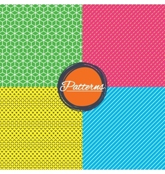 Cubes dashed diagonal lines seamless textures vector