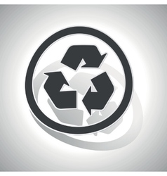 Curved recycle sign icon vector