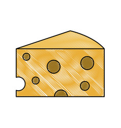 delicious cheese dairy vector image vector image