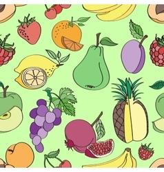 Doodle pattern fruit vector image vector image