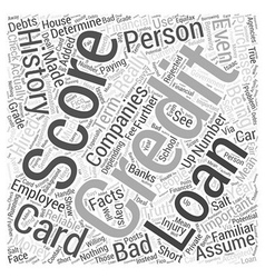 Facts about credit scores Word Cloud Concept vector image vector image