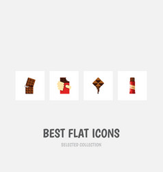 Flat icon chocolate set of sweet wrapper shaped vector