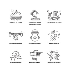 Future technology and robot artificial vector image vector image