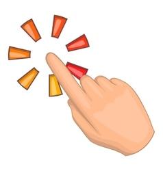 Hand cursor icon cartoon style vector