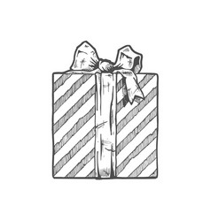 Hand drawn of gift boxe vector