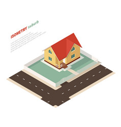 isometric country house vector image