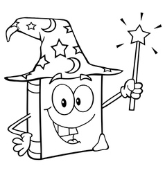 Outlined Wizard Book vector image vector image