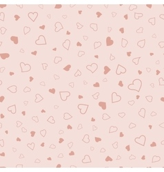 Pink hearts seamless pattern valentines texture vector image vector image