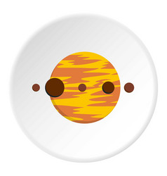Planet and moons icon circle vector