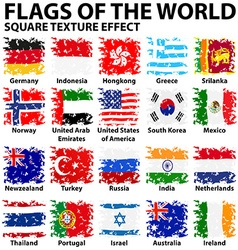 Poster design with flags of the world vector