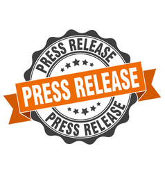 Press release stamp sign seal vector