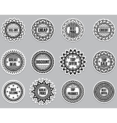 Set sticker for Selling vector image vector image
