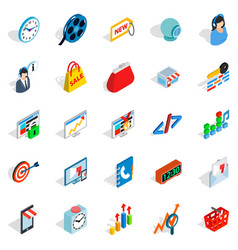Technical trifle icons set isometric style vector