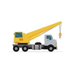 Telescopic Truck Crane in Flat Design vector image