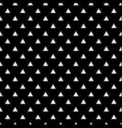 tile pattern with white triangles on black vector image vector image