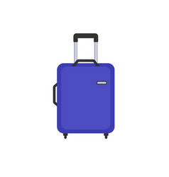 travel bag flat color icon vector image vector image