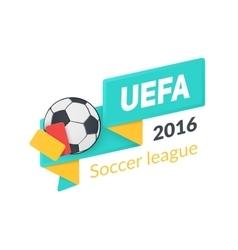 Uefa euro 2016 badge isolated on white vector