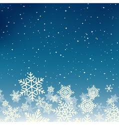 Winter xmas new year background with snowflakes vector image vector image