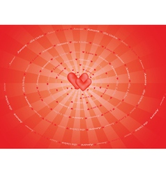 Spiral made of word love vector