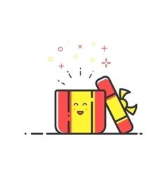 Icon shopping surprise vector