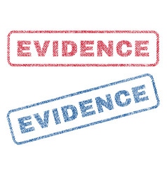 Evidence textile stamps vector