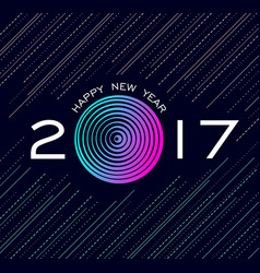Happy new year 2017 abstract technology design vector