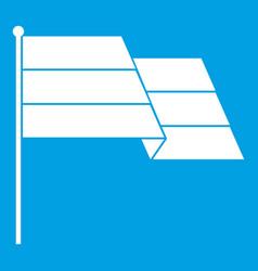 Flag icon white vector