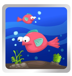 A fish underwater background vector