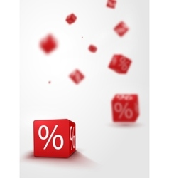 3d discount boxes dice for store market and shop vector