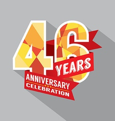 46th Years Anniversary Celebration Design vector image vector image