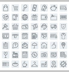 E-commerce outline web icons set vector