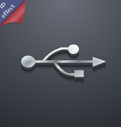Usb icon symbol 3d style trendy modern design with vector