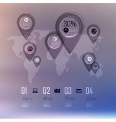 Transparent business infographics diagram on blur vector